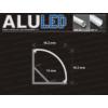 Kép 5/6 - LED Profiles ALP-006 Aluminium sarok profil ezüst, LED szalaghoz, átlátszó burával