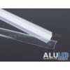 Kép 6/6 - LED Profiles ALP-006 Aluminium sarok profil ezüst, LED szalaghoz, átlátszó burával