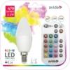 Kép 1/5 - Avide Smart LED E14 Candle izzó 5.5W RGB+W 2700K IR Távirányítóval
