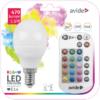 Kép 1/5 - Avide Smart LED E14 Mini Globe izzó 5.5W RGB+W 2700K IR Távirányítóval