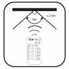 Kép 4/5 - Avide Smart LED E14 Mini Globe izzó 5.5W RGB+W 2700K IR Távirányítóval