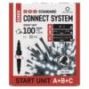 Kép 1/10 - EMOS Alapkészlet Standard, sorolható, 10 m, hideg fehér, időzítő, IP44
