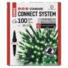 Kép 1/5 - EMOS Standard LED sorolható karácsonyi füzér, 10 m, zöld, időzítő, IP44