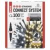 Kép 1/10 - EMOS Standard LED sorolható karácsonyi füzér, 10 m, meleg/hideg fehér, időzítő, IP44