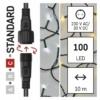 Kép 4/10 - EMOS Standard LED sorolható karácsonyi füzér, 10 m, meleg/hideg fehér, időzítő, IP44