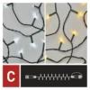 Kép 7/10 - EMOS Standard LED sorolható karácsonyi füzér, 10 m, meleg/hideg fehér, időzítő, IP44