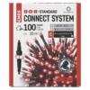 Kép 1/5 - EMOS Standard LED sorolható karácsonyi füzér, 10 m, piros, időzítő, IP44