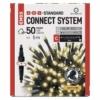 Kép 1/9 - EMOS Standard LED sorolható karácsonyi füzér, 5 m, kültéri és beltéri, meleg fehér, időzítő