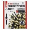 Kép 1/9 - EMOS Standard LED sorolható karácsonyi füzér, 10 m, meleg fehér, időzítő, IP44