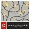 Kép 6/9 - EMOS Standard LED sorolható karácsonyi füzér, 10 m, meleg fehér, időzítő, IP44