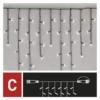 Kép 5/8 - EMOS Standard LED sorolható karácsonyi füzér jégcsapok, 2.5 m, hideg fehér, időzítő, IP44