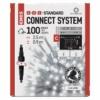 Kép 1/5 - EMOS Standard LED sorolható füzér, villogó jégcsapok, 2.5 m, hideg fehér, időzítő, IP44