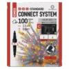Kép 1/5 - EMOS Standard LED sorolható füzér, pulzáló jégcsapok, 2.5 m, kültéri, piros/vintage, IP44