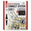 Kép 1/5 - EMOS Standard LED sorolható füzér, villogó jégcsapok, 2.5 m, meleg/hideg fehér, IP44