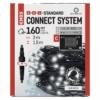 Kép 1/5 - EMOS Standard LED sorolható karácsonyi füzér háló, 1.5x2 m, hideg fehér, időzítő, IP44