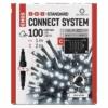 Kép 1/9 - EMOS Standard LED sorolható karácsonyi füzér fényfüggöny, 1x2 m, hideg fehér, időzítő, IP44