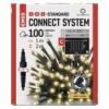 Kép 1/9 - EMOS Standard LED sorolható karácsonyi füzér fényfüggöny, 1x2 m, meleg fehér, időzítő, IP44