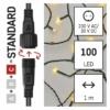 Kép 3/9 - EMOS Standard LED sorolható karácsonyi füzér fényfüggöny, 1x2 m, meleg fehér, időzítő, IP44