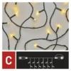 Kép 6/9 - EMOS Standard LED sorolható karácsonyi füzér fényfüggöny, 1x2 m, meleg fehér, időzítő, IP44