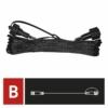 Kép 5/8 - EMOS Hosszabbító kábel sorolható Standard fényfüzérekhez, fekete, 10 m, IP44