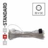 Kép 2/8 - EMOS Hosszabbító kábel sorolható Standard fényfüzérekhez, áttetsző, 10 m, IP44
