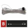 Kép 5/8 - EMOS Hosszabbító kábel sorolható Standard fényfüzérekhez, áttetsző, 10 m, IP44