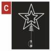 Kép 7/10 - EMOS Standard LED sorolható karácsonyi csillag, 28.5 cm, hideg fehér, időzítő, IP44