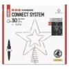 Kép 1/10 - EMOS Standard LED sorolható karácsonyi csillag, 28.5 cm, meleg fehér, időzítő, IP44