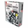 Kép 2/9 - EMOS Profi LED sorolható füzér, fekete, 5 m, hideg fehér, időzítő, IP44