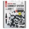 Kép 1/9 - EMOS Profi LED sorolható füzér, villogó, 10 m, hideg fehér, időzítő, IP44