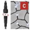 Kép 4/9 - EMOS Profi LED sorolható füzér, villogó, 10 m, hideg fehér, időzítő, IP44