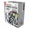 Kép 2/10 - EMOS Profi LED sorolható füzér, fekete, 10 m, hideg fehér, időzítő, IP44