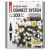 Kép 1/8 - EMOS Profi LED sorolható füzér, villogó, 10 m, meleg/hideg fehér, időzítő, IP44
