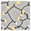 Kép 4/8 - EMOS Profi LED sorolható füzér, villogó, 10 m, meleg/hideg fehér, időzítő, IP44