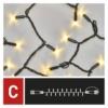 Kép 5/8 - EMOS Profi LED sorolható füzér, villogó, 10 m, meleg/hideg fehér, időzítő, IP44