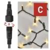 Kép 5/10 - EMOS Profi LED sorolható füzér, fekete, 5 m, meleg fehér, időzítő, IP44