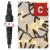 Kép 4/9 - EMOS Profi LED sorolható füzér, fekete süni, 3 m, meleg fehér, időzítő, IP44
