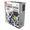 Kép 2/5 - EMOS Profi LED sorolható füzér, fekete jégcsapok, 3 m, hideg fehér, időzítő, IP44