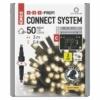 Kép 1/5 - EMOS Profi LED sorolható füzér, fekete jégcsapok, 3 m, meleg fehér, időzítő, IP44