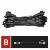 Kép 3/8 - EMOS Hosszabbító kábel sorolható Profi fényfüzérekhez, fekete, 10 m, IP44