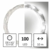Kép 1/10 - EMOS LED karácsonyi nano fényfüzér, ezüst, 10 m, hideg fehér, időzítő, IP44