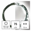 Kép 1/10 - EMOS LED karácsonyi nano fényfüzér, zöld, 7.5 m, hideg fehér, időzítő, IP44