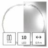 Kép 1/10 - EMOS LED karácsonyi nano fényfüzér, ezüst, 0.9 m, 2x AA, beltéri, hideg fehér, időzítő