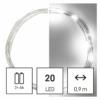 Kép 1/10 - EMOS LED karácsonyi nano fényfüzér, 1.9 m, 2x AA, beltéri, hideg fehér, időzítő