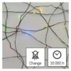 Kép 7/9 - EMOS LED karácsonyi nano fényfüzér, zöld, 4 m, többszínű, időzítő, IP44