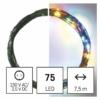 Kép 1/10 - EMOS LED karácsonyi nano fényfüzér, zöld, 7.5 m, többszínű, időzítő, IP44