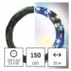 Kép 1/10 - EMOS LED karácsonyi nano fényfüzér, zöld, 15 m, többszínű, időzítő, IP44