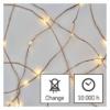 Kép 3/10 - EMOS LED karácsonyi nano fényfüzér, zöld, 7.5 m, meleg fehér, időzítő, IP44