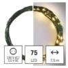 Kép 6/10 - EMOS LED karácsonyi nano fényfüzér, zöld, 7.5 m, meleg fehér, időzítő, IP44