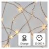 Kép 3/10 - EMOS LED karácsonyi nano fényfüzér, zöld, 15 m, meleg fehér, időzítő, IP44